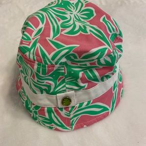 Izod pink and green preppy sun hat